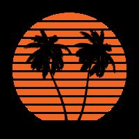 Sonnenuntergang Palmen
