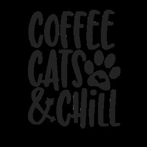 coffee cats and chill Geschenk Katze Katzen