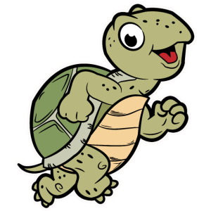 süße jogging schildkröte