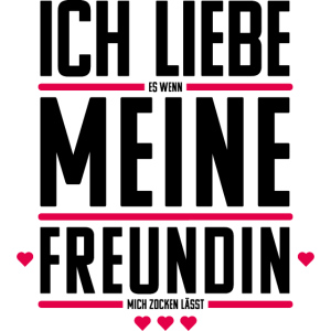 Gamer Zocker Geschenk: Ich liebe meine Freundin