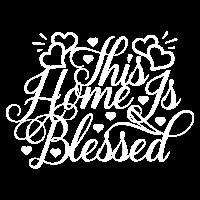 Dieses Heim ist gesegnet Daheim Geschenk Spruch