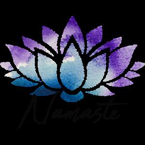 Namaste Lotusblüte bunt Muster Pattern