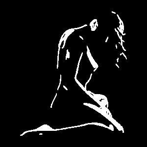Illustration Zeichnung nackte Frau