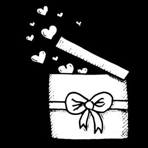 Geschenk Box Verpackung Herzen Schleife Liebe
