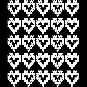 Herzen Muster = Strickmuster = Hearts pattern