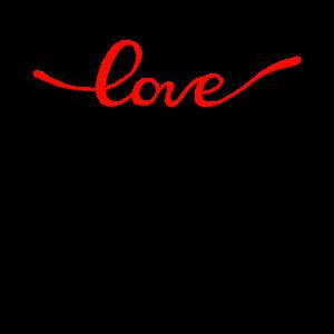 LOVE RED SCRIPT - Liebe Valentinstagsgeschenk