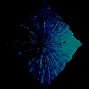 Bohemien Muster blau