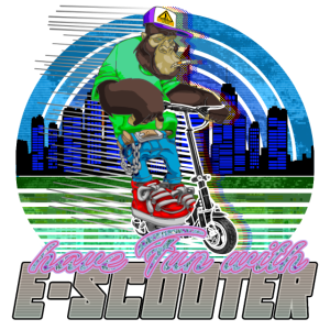 Escooter Electricscooter cooler Affe