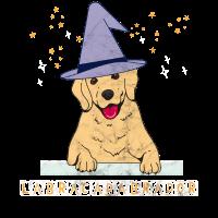 Magie Zauberer witzig Magier Hund Labrador
