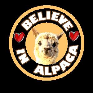 Alpaka - Believe in Alpaca Design mit Herzen