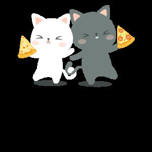 Pizza Katzen süße Katzen mit Pizza Geschenkidee