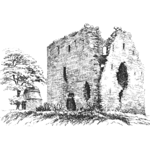 landschaft burg ruine