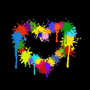 Herz, Paintball, Farbe, Farbflecken