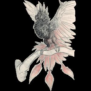 mystischer Vogel auf Ast I