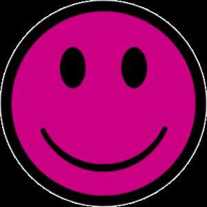 smiley magenta