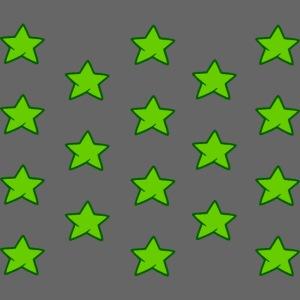 Patrón de estrellas verdes