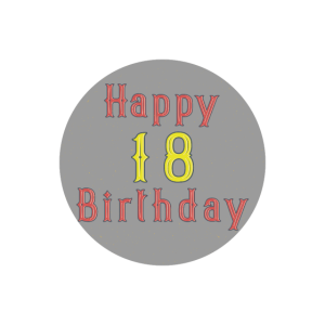 Happy 18 Geburtstag Volljaehrig Geschenk