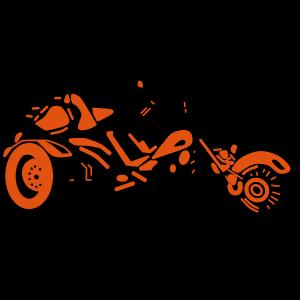 Motorrad Bike Chopper Moped Roller