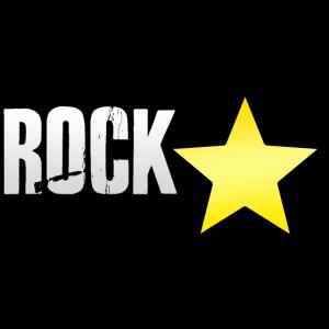 Rock Star Stern Spruch Schriftzug lustig für Musik