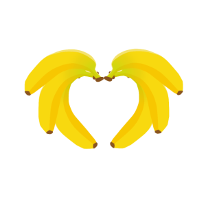 Bananen Herz