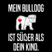 Englische Bulldogge Old English Herrchen Lustig