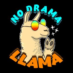 No Drama LLama Lama Geschenkidee Spruch