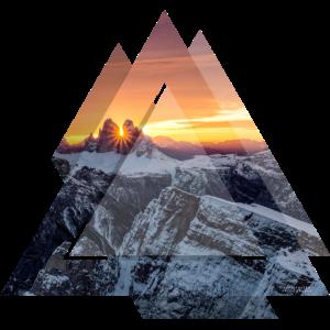 Dreieck Geometrie Dolomiten Berglandschaft