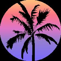 Palme Kreis Sonnenaufgang
