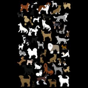 Viele Hunde Pixel