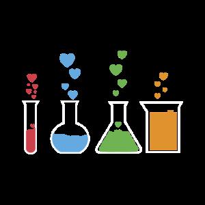 T-Shirt Chemie Reagenzglas Geschenkidee