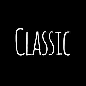 CLASSIC Schriftzug simpel, klassisch