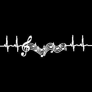 Love Musik Music EKG Musikalisch Notenschlüssel