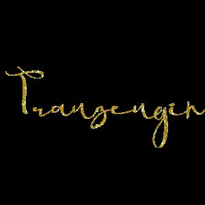Trauzeugin gold glitter