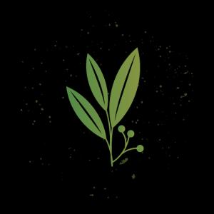 Biologie Pflanze dunkles Design