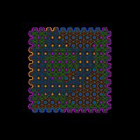 Muster Shirt buntes Kreis Design Geometrie Pattern