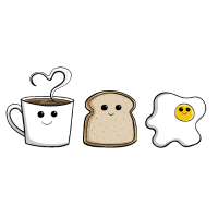 Happy Frühstück I Brunch I Kaffee Toast Geschenk