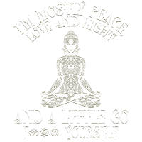 I am Mostly Peace Love And Light Vintage Woman