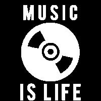 Music is life DJ Logo