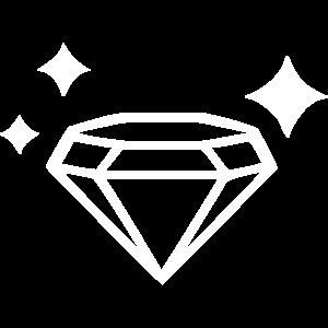 Ein glänzender Diamant