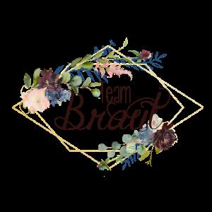 Team Braut Blumen Blumenkranz