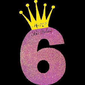 Happy Birthday 6 Jahre Alt Sechster Geburtstag
