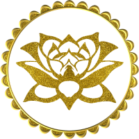 Lotusblume Lotusflower Yoga Meditation Goldeffekt