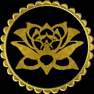 Lotusblume Lotusflower Yoga Meditation Goldeffekt