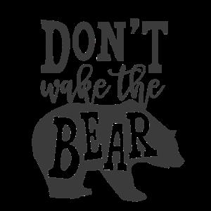 dont wake the bear Bär Geschenk