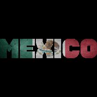 Mexico Flagge Mexiko Schriftzug Muster