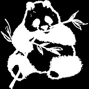 Panda Blaetter weiss