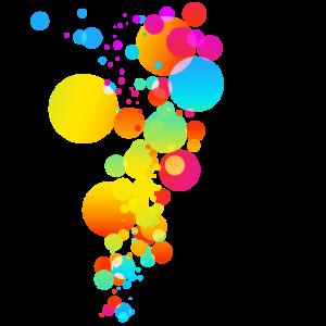 Colorful Bunt Rund Kreise Farbe Modern