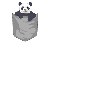 Panda Pandabär in Tasche Pocket Animal Geschenk