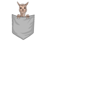 Alpaka in Tasche Alpaca Pocket Animal Geschenk