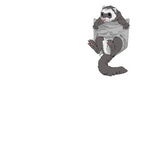Frettchen Harlekin-Frettchen Mader Wiesel Geschenk